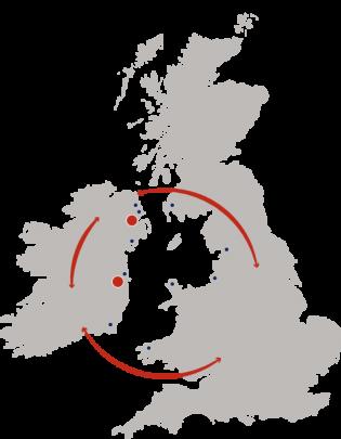 UK Customs Map